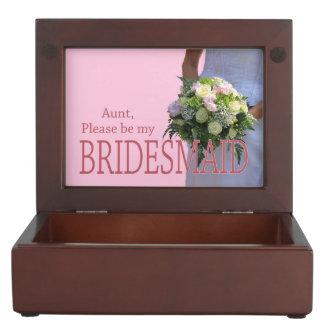 Aunt be Bridesmaid bridal bouquet Memory Box