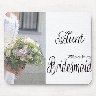 Aunt be Bridesmaid bridal bouquet Mouse Pad