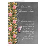 aunt birthday card - birthday card with roses and