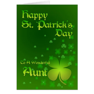 Aunt, Happy St Patrick's day card