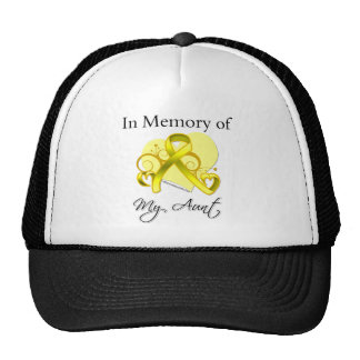 Aunt - In Memory of Military Tribute Trucker Hats