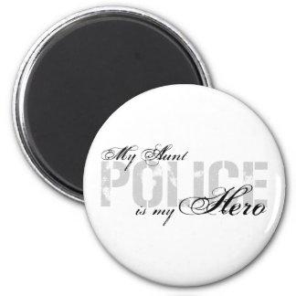 Aunt Is My Hero - POLICE 6 Cm Round Magnet