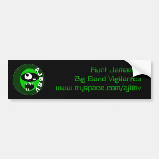 aunt jamamas big band vigilantes bumpersticker bumper sticker