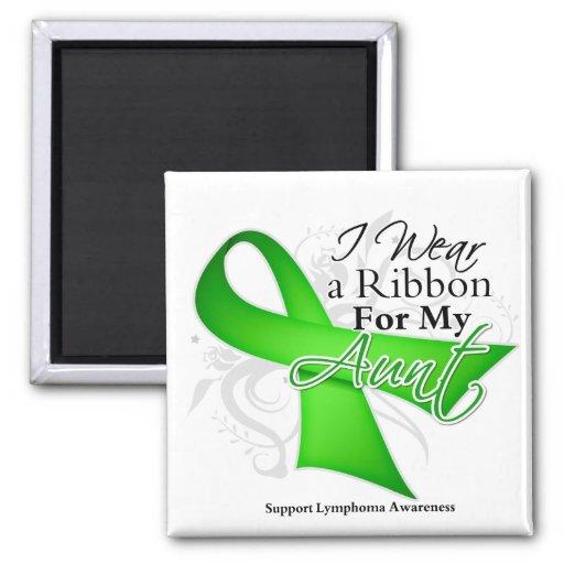 Aunt Lime Green Ribbon - Lymphoma Fridge Magnets