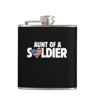 Aunt of a Soldier Hip Flask