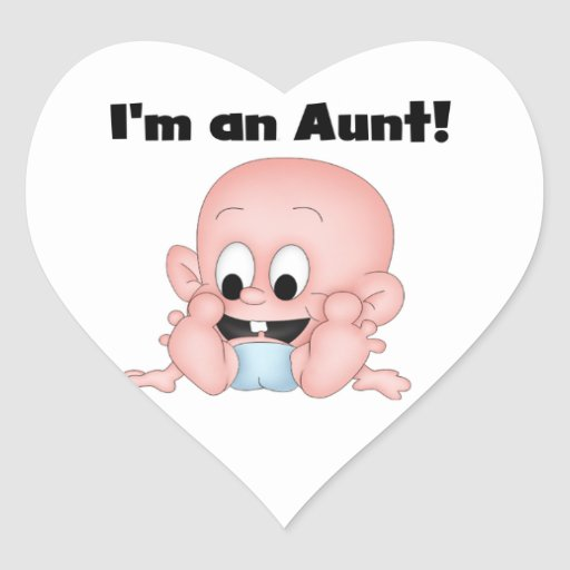 Aunt of New Nephew T-shirts and Gifts Heart Sticker