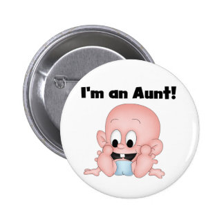 Aunt of New Nephew Tshirts and Gifts 6 Cm Round Badge
