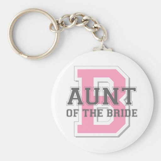 Aunt of the Bride Cheer Keychain