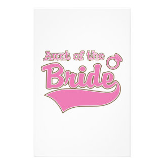 Aunt of the Bride Personalized Stationery