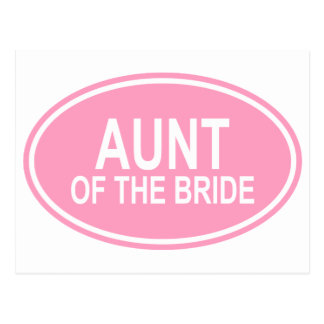 Aunt of the Bride Wedding Oval Pink Postcard