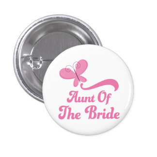 Aunt of the Bride Wedding Party 3 Cm Round Badge