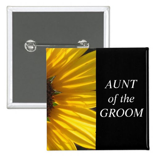Aunt Of The Groom Wedding Button