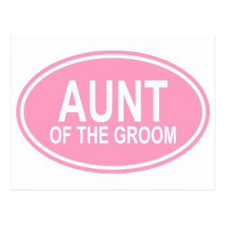 Aunt of the Groom Wedding Oval Pink Postcard