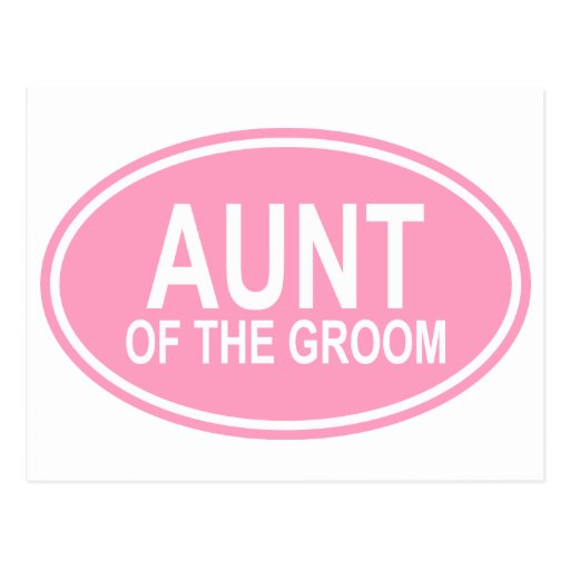 Aunt of the Groom Wedding Oval Pink Post Cards