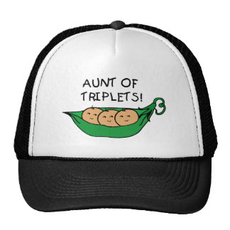 Aunt of Triplets Pod Cap