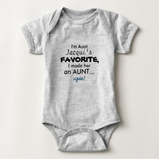 Aunt outfit baby bodysuit
