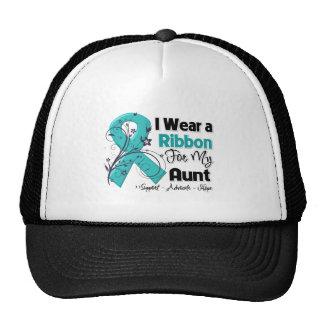 Aunt - Ovarian Cancer Ribbon Trucker Hat