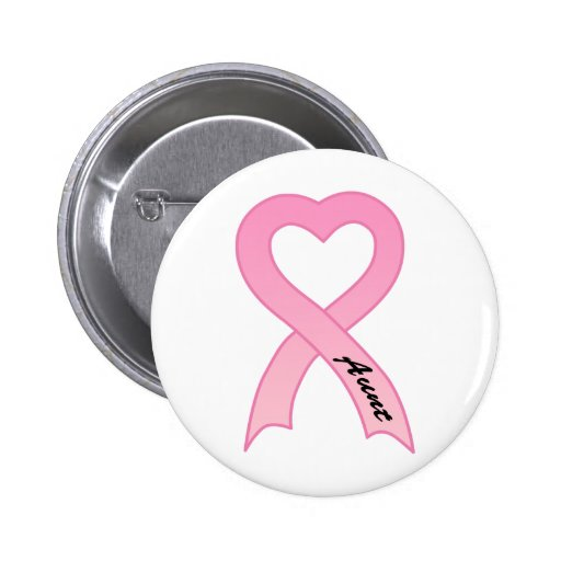 Aunt Pink Ribbon Button