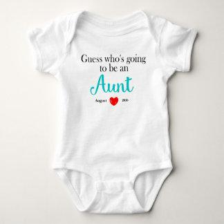 Aunt Pregnancy Announcement Personalized Baby Bodysuit