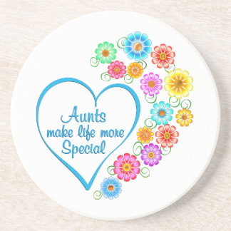Aunt Special Heart Coaster