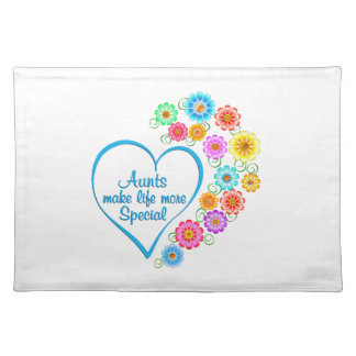 Aunt Special Heart Placemat