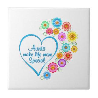 Aunt Special Heart Tile