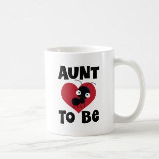Aunt to Be Gift Idea Basic White Mug