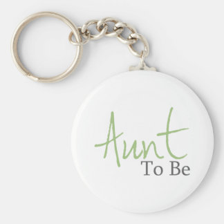 Aunt To Be Green Script Key Chains
