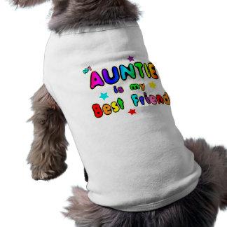 Auntie Best Friend Sleeveless Dog Shirt