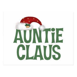 Auntie Claus Aunt Postcards