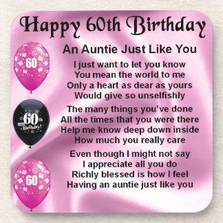 Auntie Poem - 60th Birthday Drink Coaster