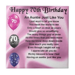 Aunts 70th Birthday Gifts On Zazzle AU