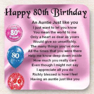 Auntie Poem - 80th Birthday Coasters