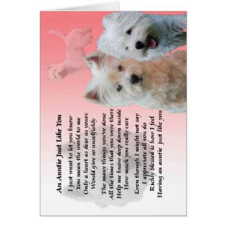 Auntie Poem - Westie Card