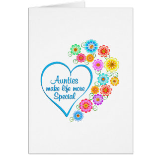 Auntie Special Heart Card