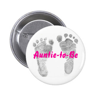 Auntie-to-Be 6 Cm Round Badge