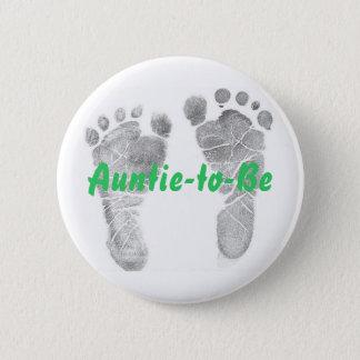 Auntie-to-Be 6 Cm Round Badge