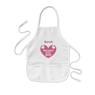 Aunt's Best Kitchen Helper Name and Heart Z4 Kids Apron