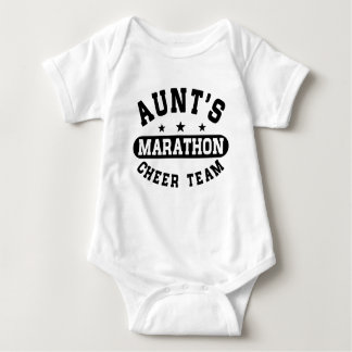 Aunt's Marathon Cheer Team Baby Bodysuit