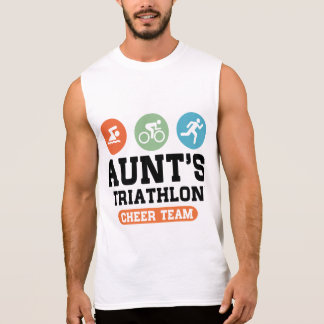 Aunt's Triathlon Cheer Team Sleeveless Shirt