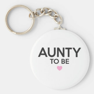 Aunty To Be Cute Print for Baby Showers Key Ring