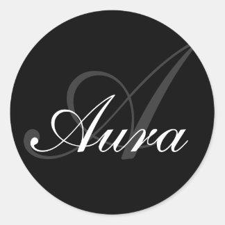 Aura-Front Classic Round Sticker
