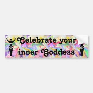 aura goddess bumper sticker