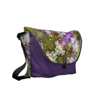 Aura Pattern Olive Rickshaw Messenger Bag