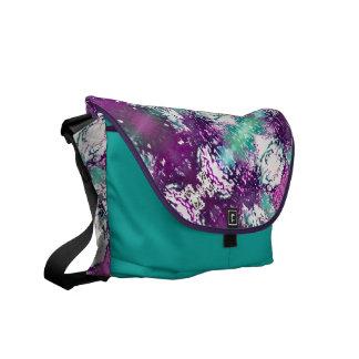 Aura Pattern Purple Rickshaw Messenger Bag