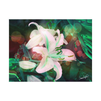 Auras Dancing with the Lilies Canvas Print