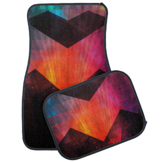 Auras of the Inner Soul Chevron Design Car Mat