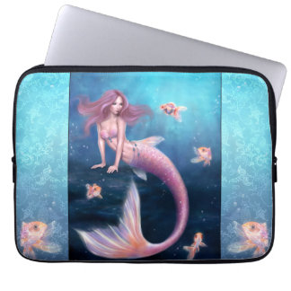Aurelia Goldfish Mermaid Art Laptop Sleeve