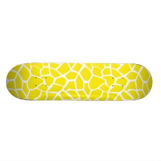 Aureolin Yellow Giraffe Animal Print Skateboard Decks