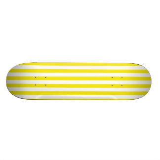 Aureolin Yellow Stripes Striped Custom Skate Board
